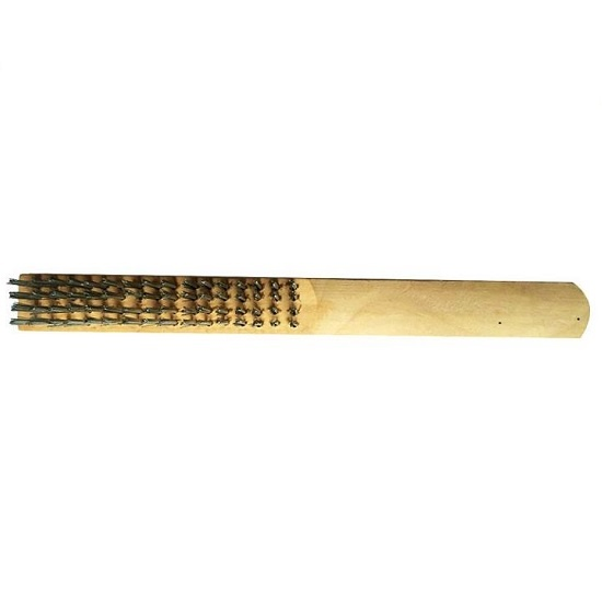 wire brush with wooden handle
