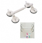 telescopic bath handle with four suction cup